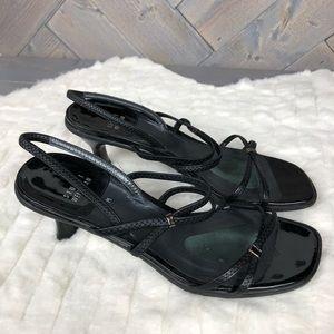 Stuart Weitzman Black strapping Sandal Heels